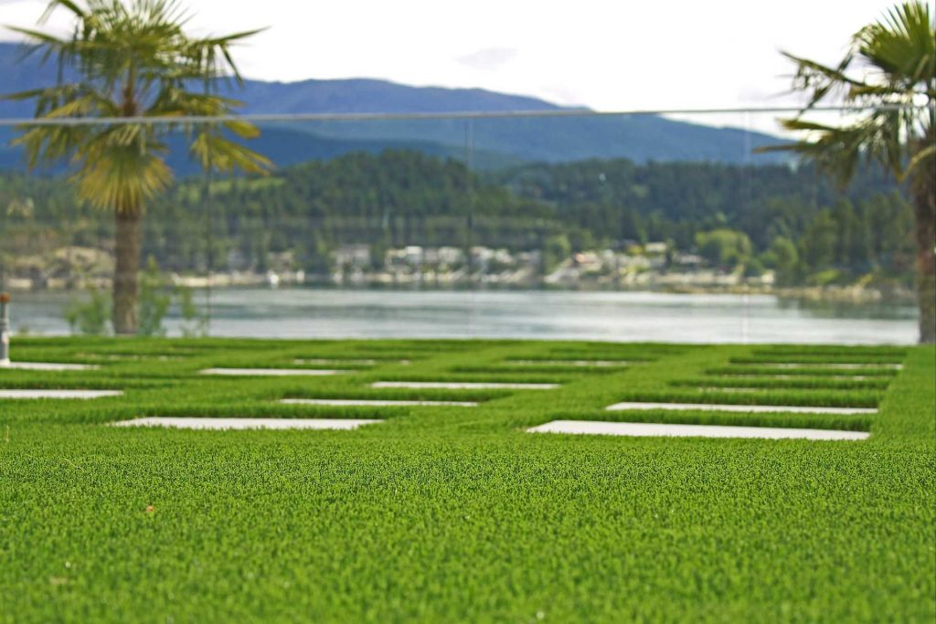 Artificial Turf beside a lake